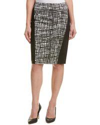 Lafayette 148 New York Petite Ariella Pencil Skirt - Black