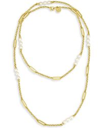 Majorica - Modern 6mm Organic Pearl Necklace - Lyst