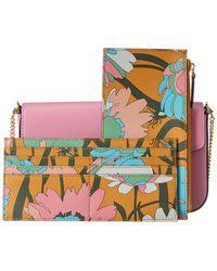 Fendi Leather Wallet On Chain - Multicolour