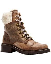 Frye Samantha Suede Hiker Boot - Brown