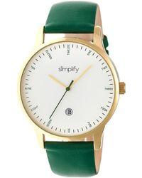 Simplify Unisex The 4300 Watch - Metallic
