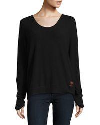 Peace Love World Kristy Tie Back Sweatshirt - Black