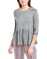 Kensie Pajama Top - Gray