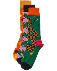 Happy Socks 3pk Socks - Green