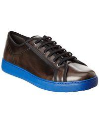 Ferragamo Fulton Leather Sneaker - Black