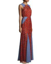 BCBGMAXAZRIA Marlyn Woven Floor-length Dress - Red