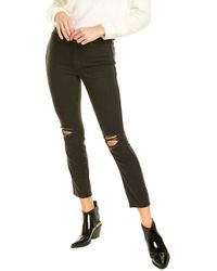 GOOD AMERICAN Good Curve Black 090 Skinny Crop Jean