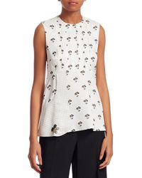 Victoria Beckham Printed Top - White
