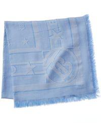 Burberry Wool & Silk-blend Scarf - Blue