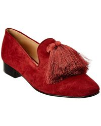 Schutz Jeaninne 2 Suede Loafer - Red
