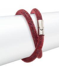 Swarovski Stardust Crystal Wrap Bracelet - Red