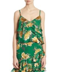 Alice + Olivia - Vanessa Ruffled Fil Coupé Georgette Camisole - Lyst