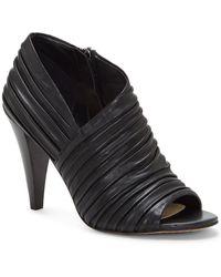 Vince Camuto Anara Leather Bootie - Black