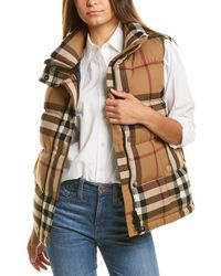 Burberry Check Flannel Gilet - Brown