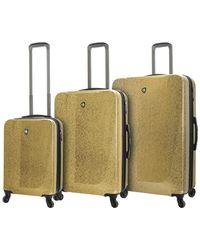 Mia Toro Italy Caglio 3pc Hardside Spinner Luggage - Metallic