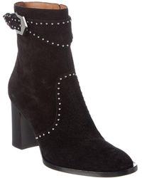 Givenchy Elegant Studded Suede Ankle Boot - Black