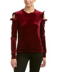 Drew Samantha Dru Cold-shoulder Ruffle Top - Red