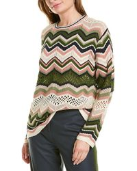 M Missoni Mixed Knit Wool & Mohair-blend Sweater - White