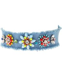Cara Couture Jewelry - Frayed Flower Choker - Lyst
