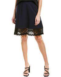 Three Dots Ponte Lace Mini Skirt - Blue