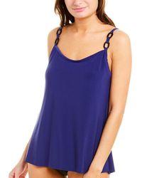 Magicsuit Solid Dd Kate Tankini Top - Blue