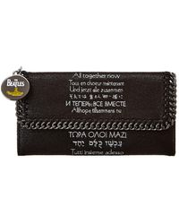 Stella McCartney All Together Now Falabella Continental Wallet - Black