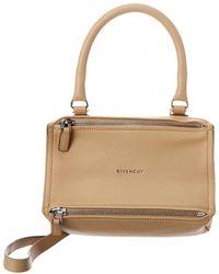 Givenchy Pandora Small Leather Shoulder Bag - Natural