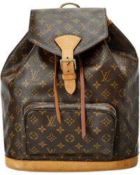 Louis Vuitton Monogram Canvas Montsouris Backpack Gm - Multicolour