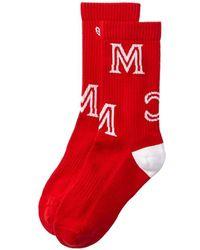 MCM Monogram Socks - Red