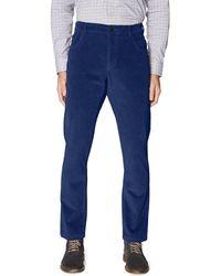Hickey Freeman Corduroy Pant - Blue