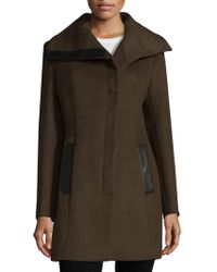 SOIA & KYO - Asymmetrical Wool Blend Coat - Lyst