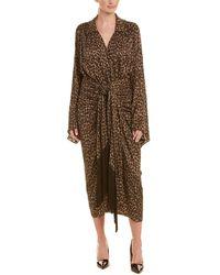 Michael Kors Silk Kimono Dress - Brown