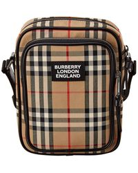 Burberry Vintage Check & Leather Crossbody Bag - Multicolor