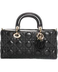 Dior Black Leather Cannage Runway Handbag