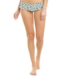 MILLY Cabana Sirolo Ruffle Bikini Bottom - Green