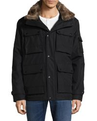 Sam. - Blizzard Faux Fur-trimmed Puffer Jacket - Lyst