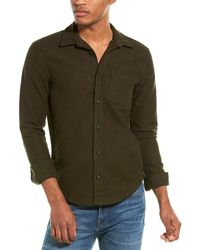 Michael Stars Soft Twill Work Shirt - Green