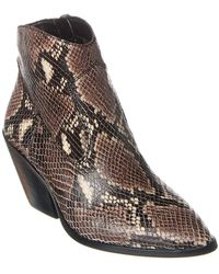 Vince Camuto Jemeila Python-embossed Leather Bootie - Brown