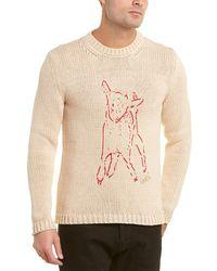 Gucci Lamb Print Sweater - Brown