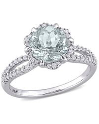 Rina Limor 14k 1.96 Ct. Tw. Diamond & Aquamarine Ring - Metallic
