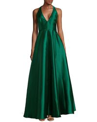 Badgley Mischka - Plunge Floor-length Dress - Lyst