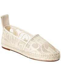 Chloé Woody Leather-trim Espadrille - White