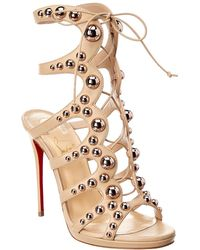 Christian Louboutin Amazoubille 120 Leather Sandal - Brown