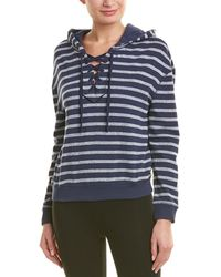Marc New York Striped Lace-up Hoodie - Blue