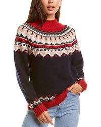 Autumn Cashmere Fairisle Cashmere & Wool-blend Sweater - Black