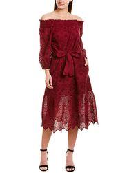 St. Roche Sarah Midi Dress - Red