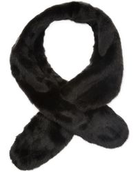 Badgley Mischka - Faux Fox Pull Thru Scarf - Lyst