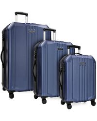 Elite Luggage Long Beach 3pc Hardside Spinner Luggage Set - Blue