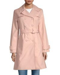 Kate Spade Double-breasted Trench Coat - Pink