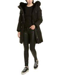 Mackage Anabel Leather-trim Coat - Black